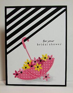 Bridal Shower by donidoodle - Cards and Paper Crafts at Splitcoaststampers. (Pin#1: Apparel: Boots/ Umbrellas...).