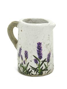 Lavender Ceramic Jug