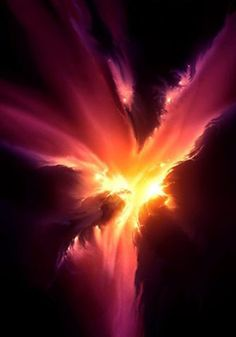 The #PHOENIXNebula, imaged by Hubble's pictures and appears as a star cluster mass with supermassive dust clouds surrounding it.