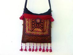 Ethnic Hmong Vintage Textiles Shoulder Bag by orientaltribe11, @Sold out