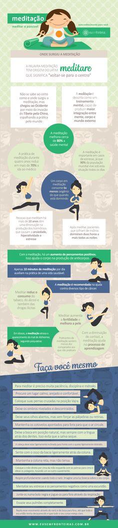 Meditar é possível! http://www.eusemfronteiras.com.br/meditacao-meditar-e-possivel/