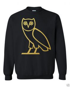 OVO Owl Drake Sweatshirt BLACK. Here is a Cool comfortable 50/50 poly/cotton sweatshirt. Show your support and look great. Everyone will be asking you where did you get this shirt. (in inches) S M L XL 2XL 3XL BODY LENGTH 28 29 30 31 32 33 BODY WIDTH 18 20 22 24 26 28 FULL BODY LENGTH 28 29 30 31 32 33 Machine wash and dry. Turn the shirt inside out to iron. We ship items within 2 - 5 business days for handling time. I will try to ship out before the stated time. Thank you :)
