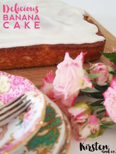 how to make kale free banana cake | vintage food styling | royal albert | kirsten and co | kirstenandco.com