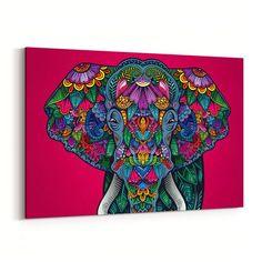 Colorful Elephant Canvas Print - GearBunch Leggings / Yoga Pants canvas hanging, home canvas art, abstract canvas painting diy 3d Canvas Art, Canvas Art Quotes, Love Canvas, Kids Canvas, Canvas Signs, Photo Canvas, Canvas Prints, Hand Prints, Canvas Ideas