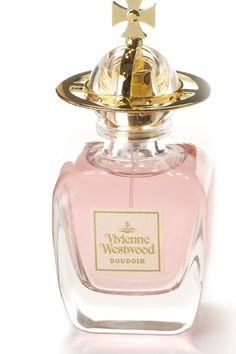 Boudoir, Vivienne Westwood for women. The top notes are aldehydes, sweetly-fresh bergamot, hyacinth, and orange blossom. The heart is sweet and opulent with jasmine, luscious rose, narcissus, carnation, orris root, cardamom and coriander. The base brings patchouli, warm and milky sandal wood, tobacco leaves, cinnamon, and powdery soft vanilla.