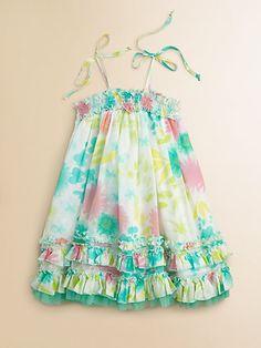 Halabaloo - Toddler's & Little Girl's Multi-Color Floral Dress Kids Summer Dresses, Summer Kids, Girls Dresses, Ballet, Dress Sewing Patterns, Little Girls, Girl Outfits, How To Wear, Floral