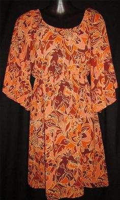 Judith March Large Dress NEW Womens Large Dress Ladies Large Dress CUTE Horses ~~~~  $69.99