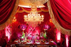 Be our guest at this luxurious and enchanted Beauty and the Beast inspired wedding reception