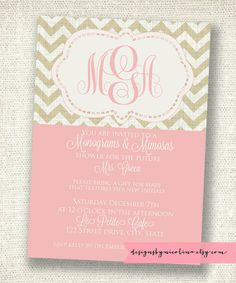 Monograms and Mimosas Chevron Shower... This shower idea is perfect for me lol