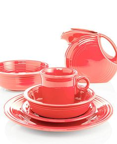 Fiesta Dinnerware, Flamingo Collection - Casual Dinnerware - Dining & Entertaining - Macy's