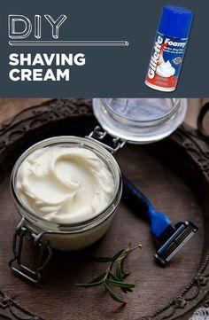 Crema de afeitar hecha en casa