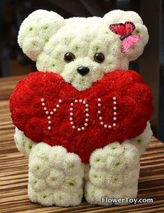 FlowerToy I Love You Bear