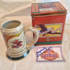 Budweiser Stein & Tin Historic Advertising Series 1999 Certificate Beer Brewery