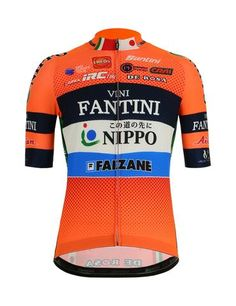 2019 Men's Origine Cycling Jersey Orange//Navy by Santini Made in Italy