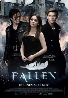 Fallen movie starring Addison Timlin, Jeremy Irvine, and Harrison Gilbertson Lauren Kate, Fallen Series, Fallen Book, Movies Showing, Movies And Tv Shows, Jeremy Irvine, Addison Timlin, Film Story, Bon Film