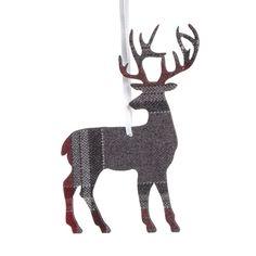 Wilko Nordic Tartan Stag Decoration