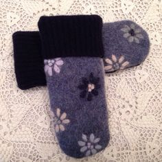 Upcycled recycled warm and one of a kind felted by LadyBaabaa1, $24.00