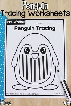 Are you looking for a fun pre-writing activity to add to your penguin unit? Try these free Penguin Tracing Worksheets! There are so many different ways to use these preschool worksheets. Plus, your preschoolers will be working on development skills that are important for pre-writers! Click on the picture to get these free penguin pre-writing worksheets for preschoolers! #tracingworksheets #prewritingactivity #worksheetsforpreschool #worksheetsforpreschoolers #preschoolworksheets