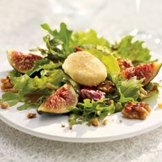 Maple Balsamic Fig Salad with Goat Cheese Croquettes