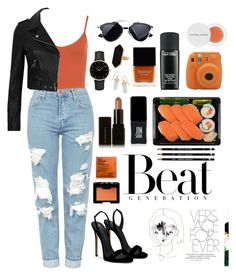 """• Orange •"" by domeroman on Polyvore featuring moda, Butter London, WearAll, Giuseppe Zanotti, Topshop, River Island, MAC Cosmetics, JINsoon, Illamasqua y Herbivore"
