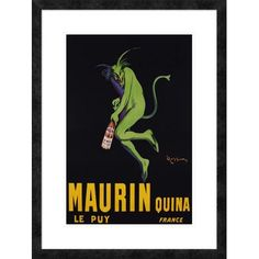 "Global Gallery 'Maurin Quina, ca. 1906' by Leonetto Cappiello Framed Graphic Art Size: 32"" H x 24"" W x 1.5"" D"