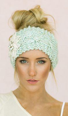 Mint ear warmers
