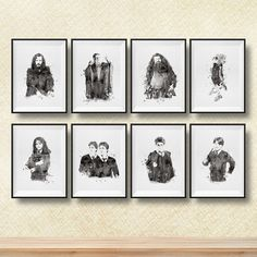 Set Harry Potter print Harry Potter watercolor by PrintsForKids