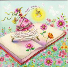 Risultati immagini per nina chen Happy Birthday Art, Happy Birthday Pictures, Happy Birthday Greetings, It's Your Birthday, Bday Cards, Birthday Greeting Cards, Birthday Congratulations, Happy B Day, Whimsical Art