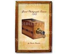 Antique Grand Photographe Camera  1843 by Charles by OldiesPixel