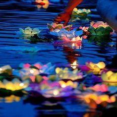 20 Chinese Paper Lotus Flower Floating Lanterns for Birthday Wedding Party   eBay
