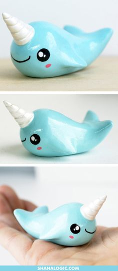 Collectible Narwhal Figurine, hand-sculpted and painted, only at ShanaLogic…