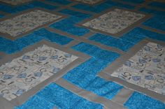 Wedding quilt - closeup
