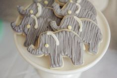 Elephant cookies for