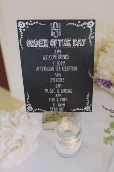 Blackboard Order Day Vintage Village Hall Steam Railway Light Home Made Wedding http://www.scuffinsphotography.com/