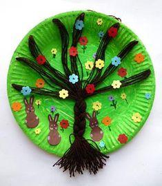 amazon/basteln-Frühlingsbaum-Pappteller-Osterhasen