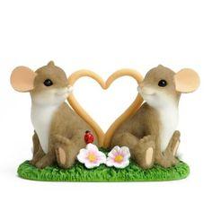 Enesco Charming Tails Love Mice Figurine