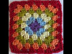 Super claro... Tutorial Granny Square Paso A Paso En Español - YouTube
