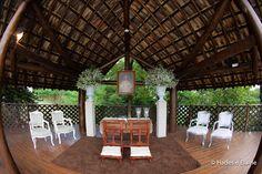 Clean scene to wedding ceremony