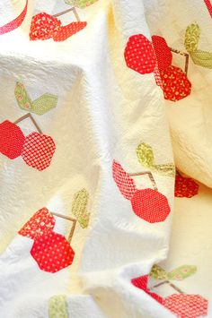 Red! Cherries quilt kit and pattern fig tree quilts