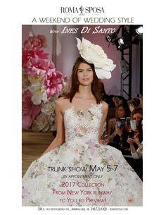 5cdeede0fe9c Ines Di Santo Bridal Couture Trunk Show - Collection 2017 - Roma Sposa