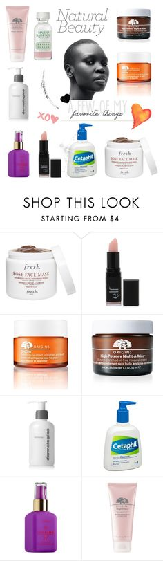 """""""Beauty in a bottle"""" by wind-chasing ❤ liked on Polyvore featuring beauty, Fresh, Forever 21, Origins, Dermalogica, Cetaphil, tarte and Mario Badescu Skin Care"""
