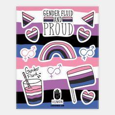 Gender Fluid Pride Sticker Sheet