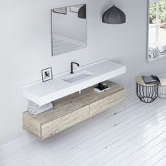 ORGANIC Countertop by Nuovvo | #minimal #bathroom #design #ideas