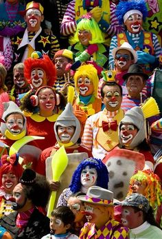 Assembly of clowns