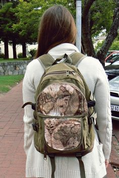 Map Backpack  •  Free tutorial with pictures on how to make a backpack in under 180 minutes
