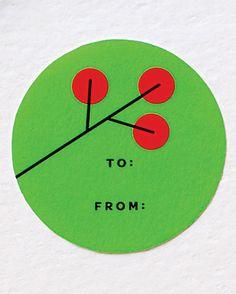 cute little Christmas gift tag from Martha Stewart