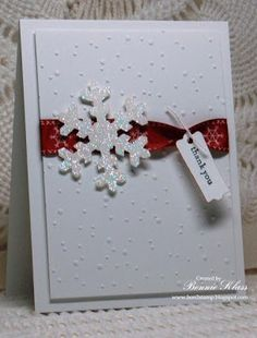 Stamping with Klass: Snowflake Thanks