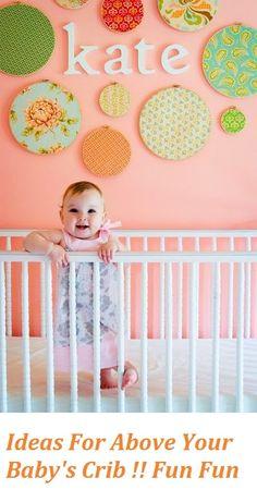 Baby name above crib