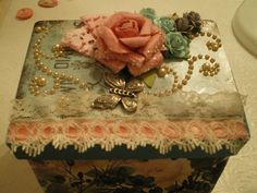 "Altered Box for the ""Think Pink""  By: Marla Rizzo"