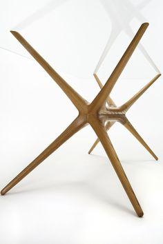 Tapio Wirkkala X-Frame table, designed 1958 for Asko Oy, Finland. X Frame Coffee Table, Coffee Table Design, Coffee Tables, Vintage Furniture Design, Handmade Furniture, Table Furniture, Cool Furniture, Wood Design, Contemporary Furniture